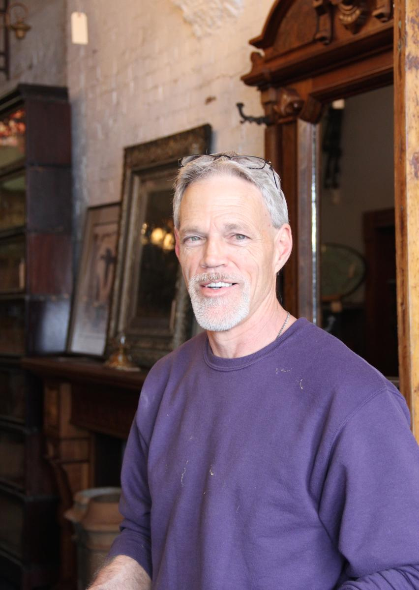 "Mike Nichols, all-around all-star, Wooden Nickel Antiques -- Rocking the architectural antique scene since 1976, Wooden Nickel specializes in a variety of styles, eras, and furniture genres. Because its real focus is on ""WOW."""