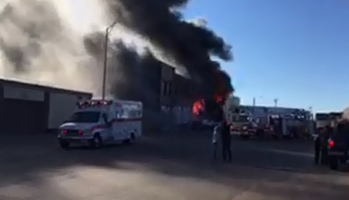 Fire in downtown Hastings. (NTV News)