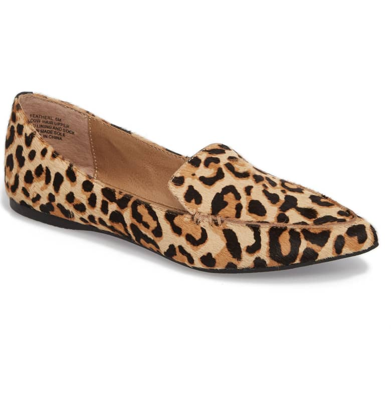 Steve Madden Feather L Genuine_ Calf Hair Loafer Flat, $89.95.{ }Ballin' on a budget this season? Nordstrom found priceless gifts all under $100. You're welcome! (Image courtesy of Nordstrom).