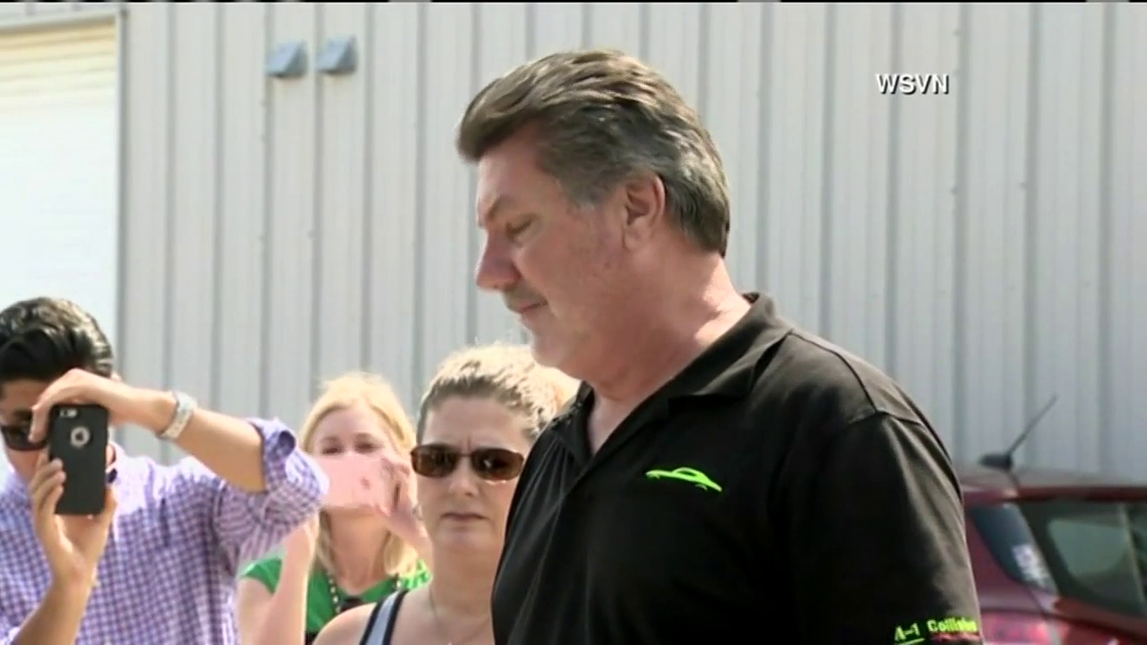 Ed Henson speaks to reporters Monday, June 13, 2016 outside his St. Lucie, Fla. gun store, where the mass shooter bought the guns used in the deadliest shooting in U.S. history.  (CNN Newsource)