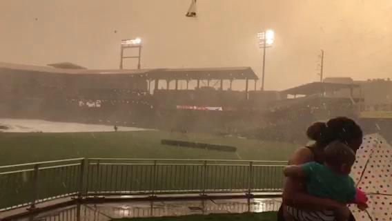 Heavy rain and winds forced the cancellation of the Chihuahuas game. (Courtesy: George Cervantez)Thumbnail