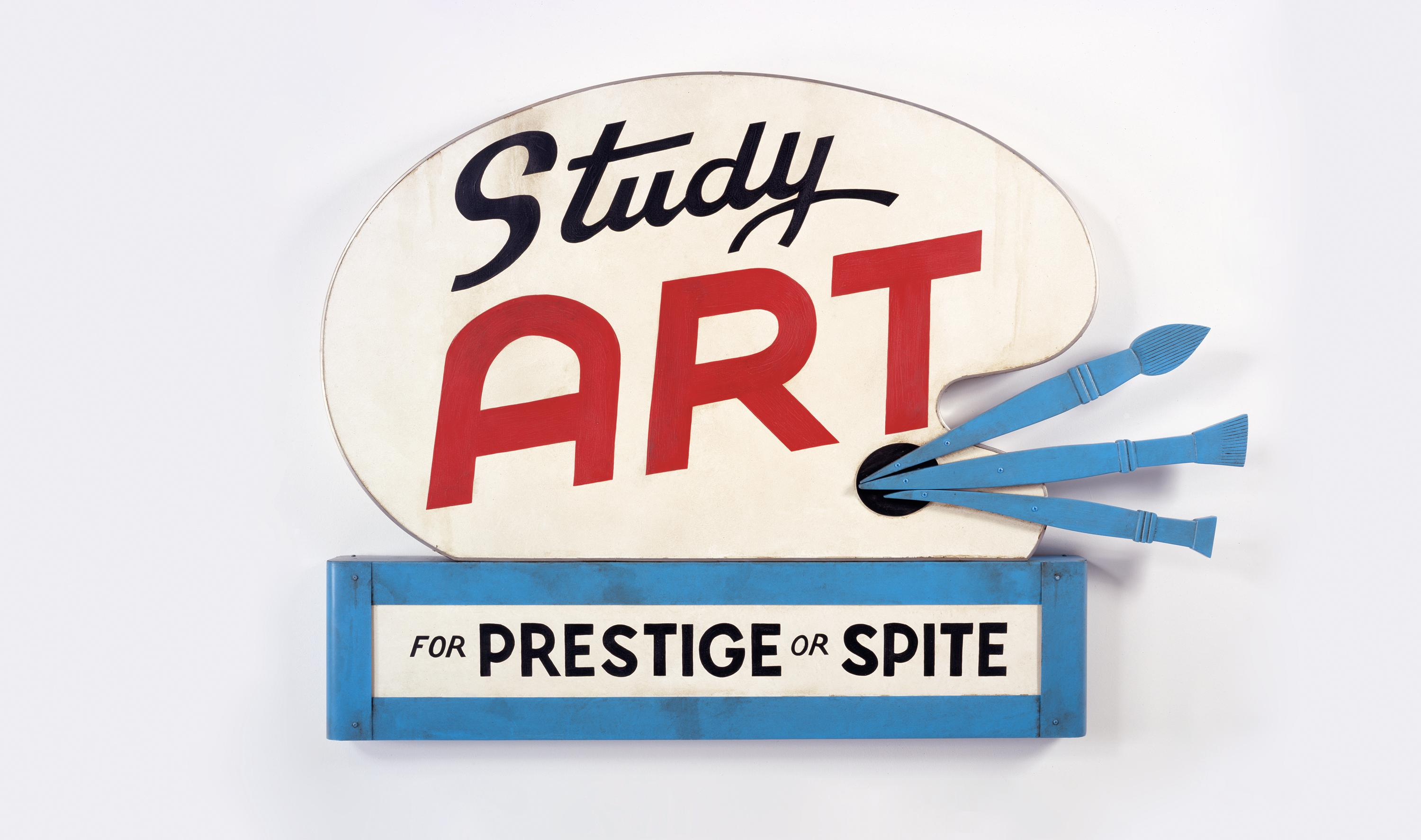 "See John Waters' ""Study Art Sign (For Prestige or Spite)"" at the Baltimore Museum of Art through Jan. 6. { }(Image: Courtesy  Sprüth  Magers  Gallery.  ©  John  Waters)"