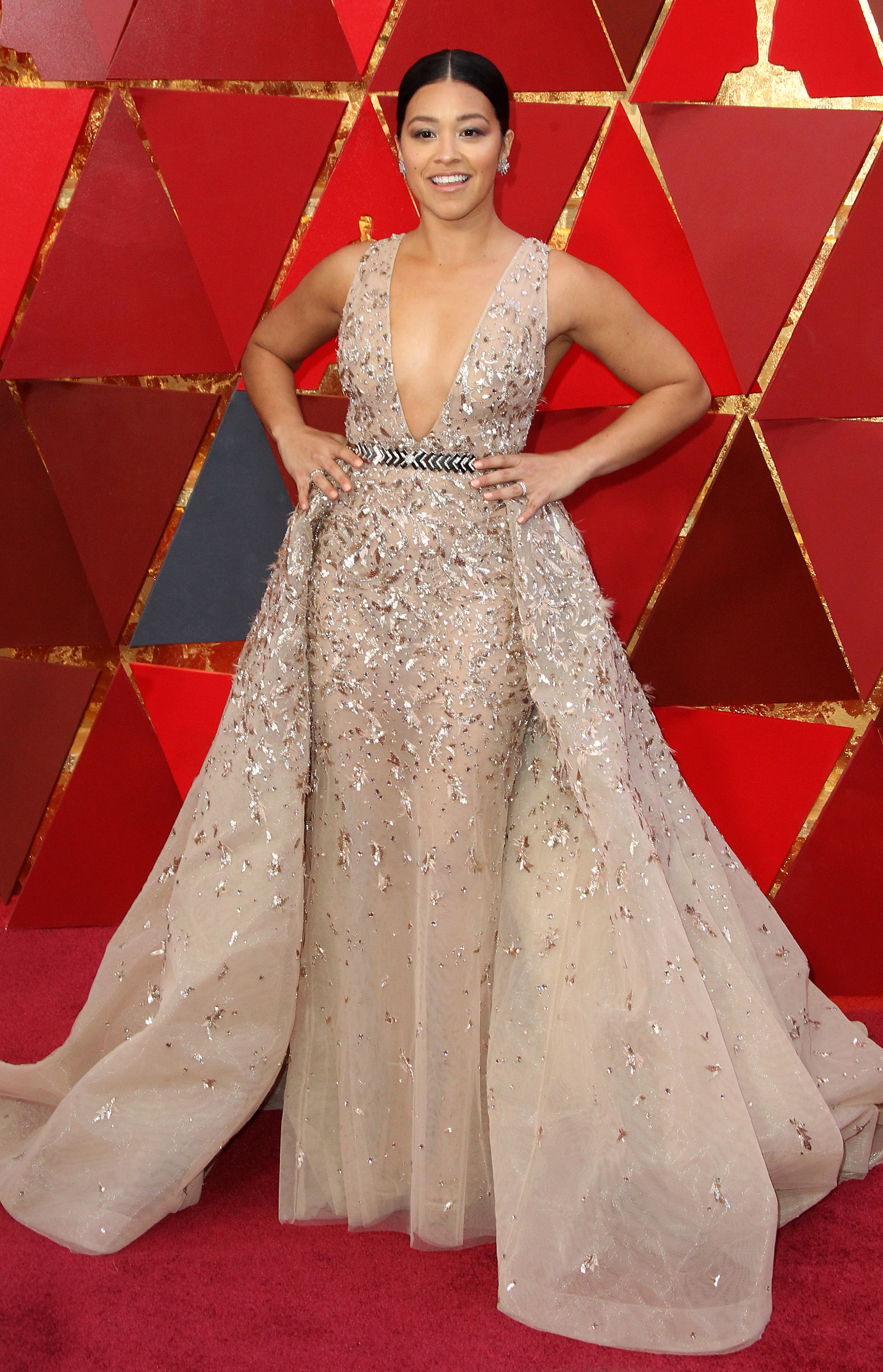 Gina Rodriguez{&amp;nbsp;}arrives at the 90th Annual Academy Awards (Oscars) held at the Dolby Theater in Hollywood, California. (Image: Adriana M. Barraza/WENN.com) <p></p>