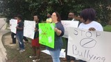 Group protesting against bullying outside Florence middle school