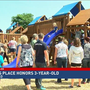 Playground honoring dinosaur-loving Webster boy opens