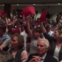 Packed auditorium at Arkansas senator's town hall meeting