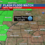 Flash flooding threat for Wednesday night
