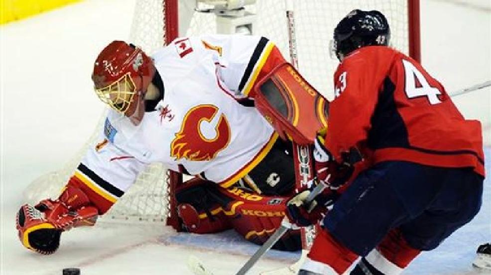 factory price 48e47 3b5f8 Flames beat Capitals, Ovechkin 4-3 in OT | WJLA
