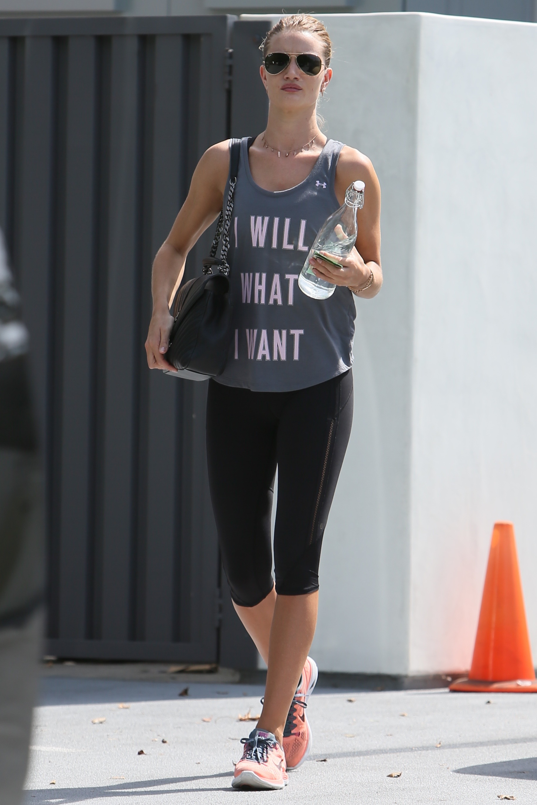Rosie Huntington Whitley seen leaving Yoga                                    Featuring: Rosie Huntington-Whiteley                  Where: Los Angeles, California, United States                  When: 21 Sep 2015                  Credit: Michael Wright/WENN.com