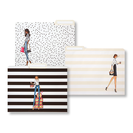 Brittany Fuson fashion file folders, set of 9 for $12,{&amp;nbsp;}via brittanyfuson.com (Image: Courtesy Brittany Fuson)<p></p>