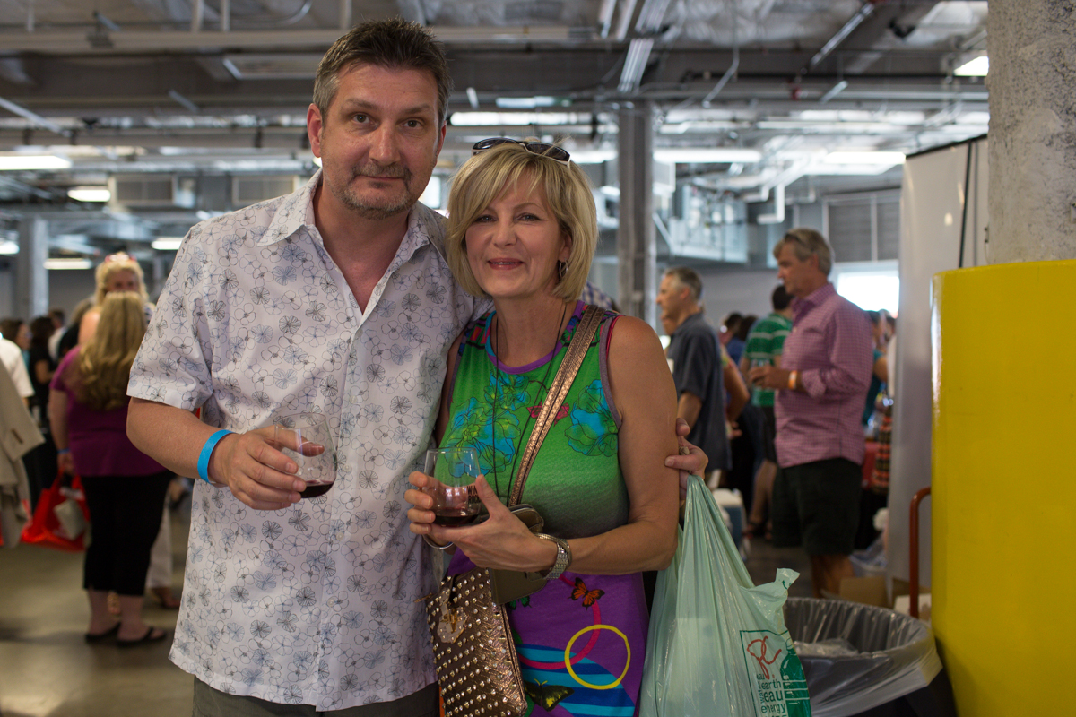 "Jim Held and Kelly Solberg celebrated at Wine Rocks last night at Pier 66 in Seattle. Wine Rocks is an annual not-for-profit gathering of local winemakers and craft brewers celebrating ""exceptional wine, unique distillates, outstanding beer, groovy tunes, savory fare and one heckuva backdrop."" (Image: Joshua Lewis / Seattle Refined)"