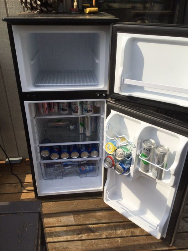Refrigerators! The average price of fridges in Seattle is $161. Searches for mini fridges, small fridges vintage fridges are just as popular for the big stainless steel fridges (Image courtesy of OfferUp).