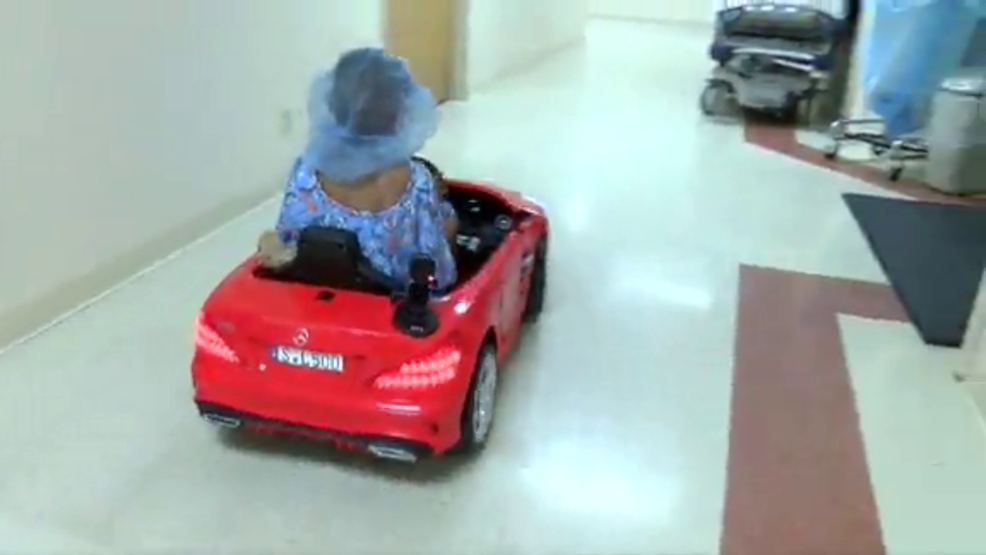 Kids Drive Toy Cars Into Surgery At Hospital Kabb