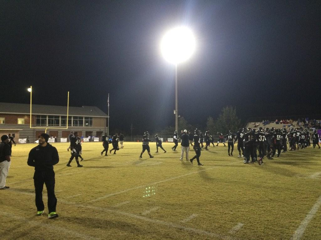 Pregame of Shades Valley's first-round home playoff game against Arab, Friday, Nov. 7, 2014.
