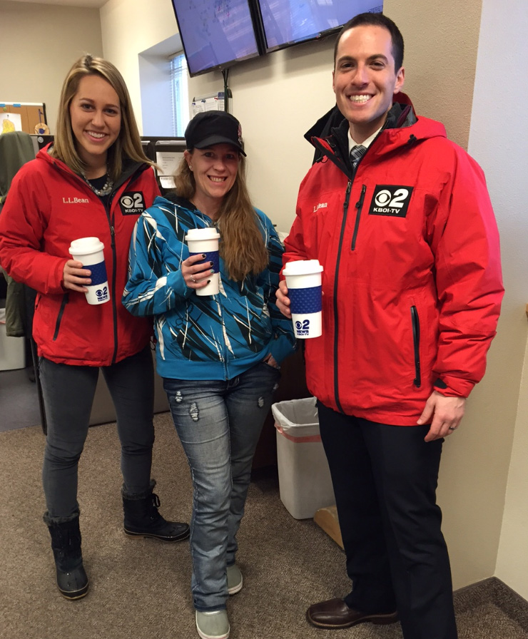 Mugshot Mondays: This week's winner is Master Plumbing in Meridian! Kelsey Anderson and Bryan Levin  helped deliver free Dutch Bros. Coffee and KBOI mugs! Want your business to be next? Enter HERE: http://bit.ly/1UoKo3X