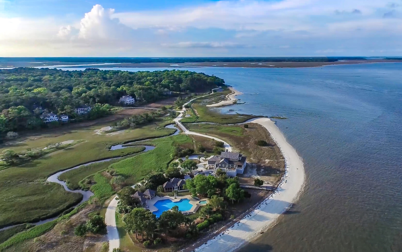 When you're ready to hit the road again, drive on down to Daufuskie Island (just off the coast of Hilton Head). The island can only be reached by ferry, water taxi, or private jet. It has a population of just under 400, and is a secluded refuge from all the hustle and bustle. / Image courtesy of Haig Point // Published: 6.24.20