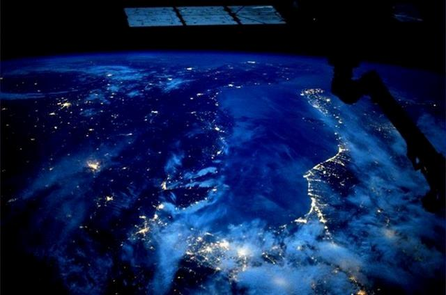 The Adriatic Sea.(Photo & Caption: Karen Nyberg, NASA)
