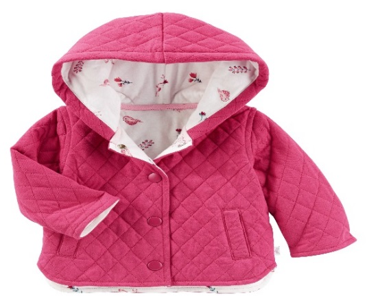 Oshkosh Baby B'gosh has recalled about 38,000 quilted jackets due to a potential choking hazard. (Photo: U.S. Consumer Product Safety Commission)<p></p>