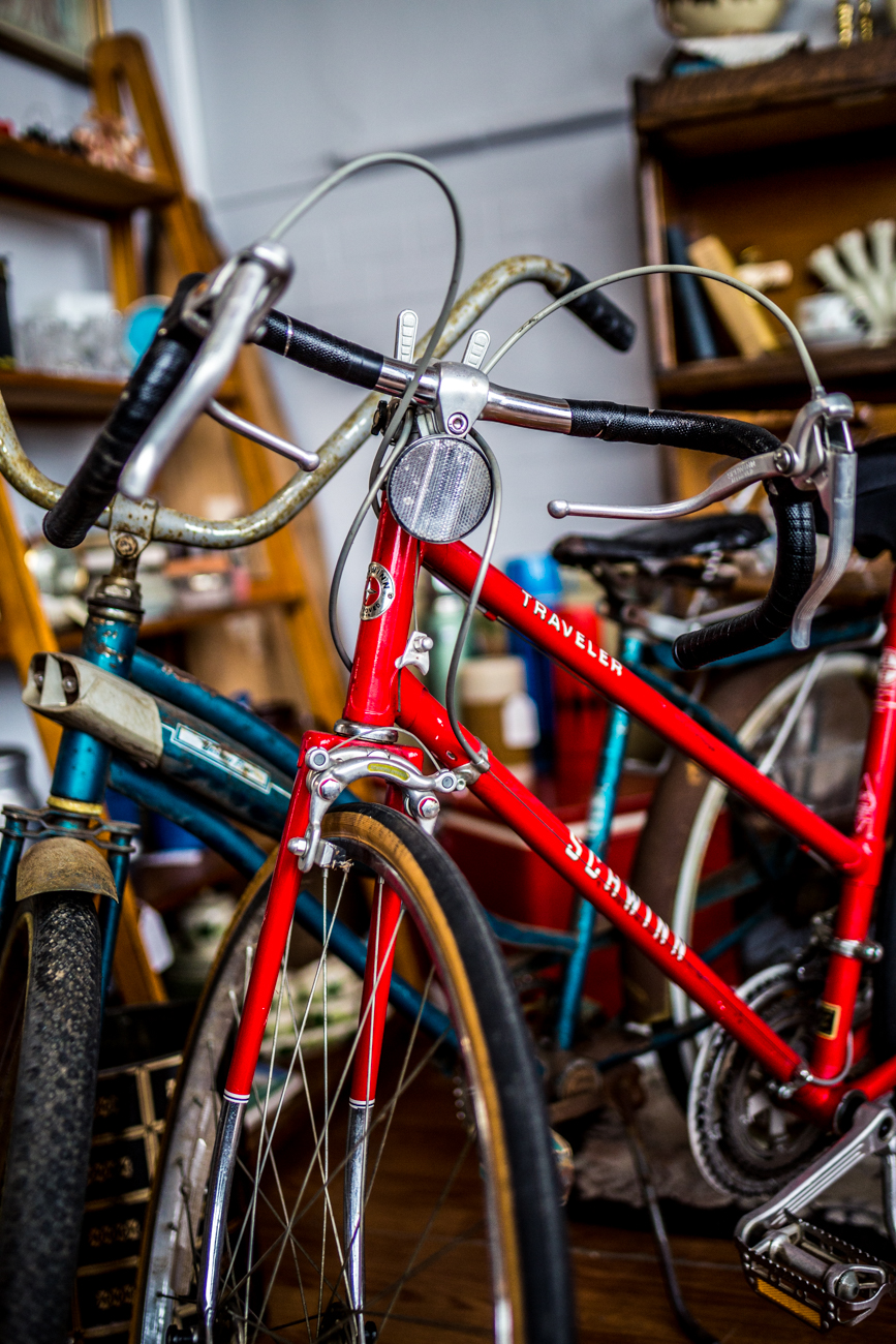 The classic red bike / Image: Catherine Viox{ }// Published: 11.9.19