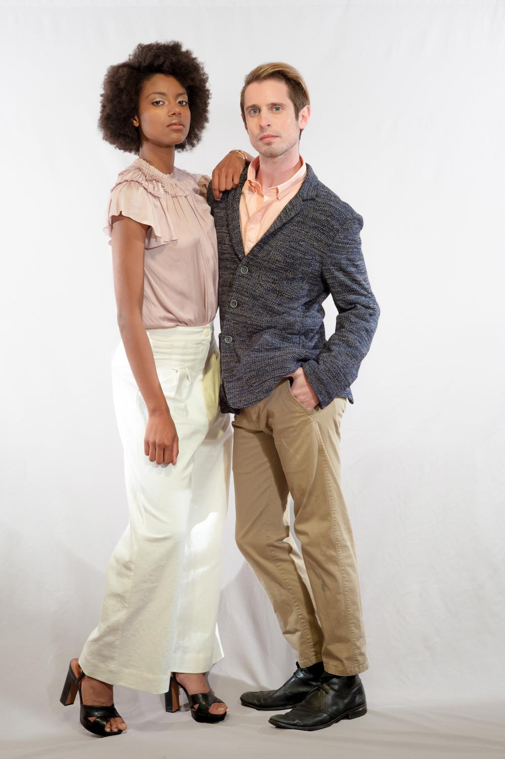 PARTY STYLE: Beach / Mauve top: (Ulla Johnson) Idlewild Woman / White Pants: (Ilana Kohn) Idlewild Woman / Blue knit blazer: (Krammer and Stoudt) Article / Peach button up: Saturdays New York City / Khaki trousers: Greyers / Image: Tifani Ahren Davis // Published: 5.17.17