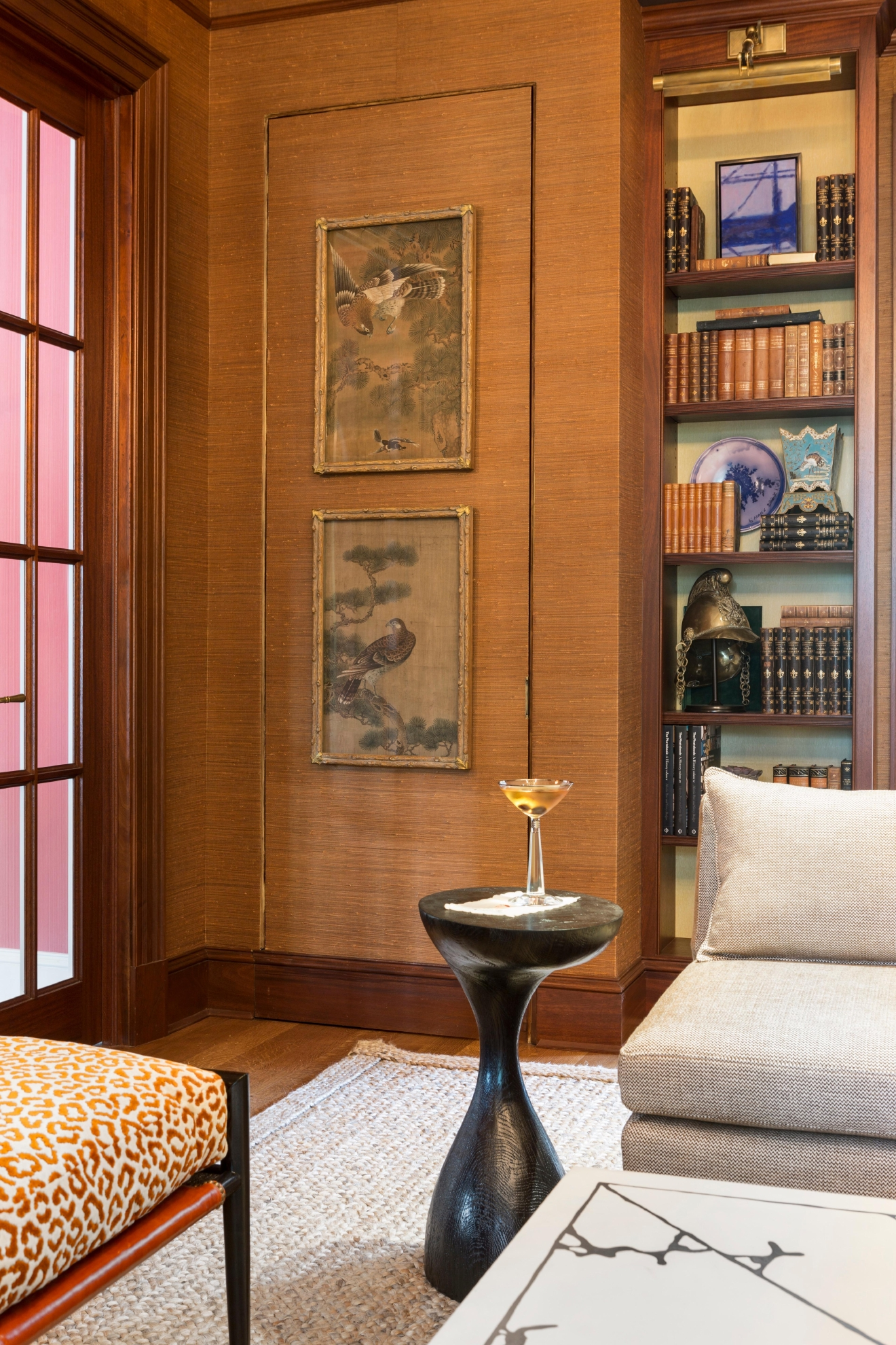 Hildreth, who is designing a whiskey bar in the closet of a home library for his addition to the DC Design House, recommends paring down your drink options to save space.  (Image: Angie Seckinger)