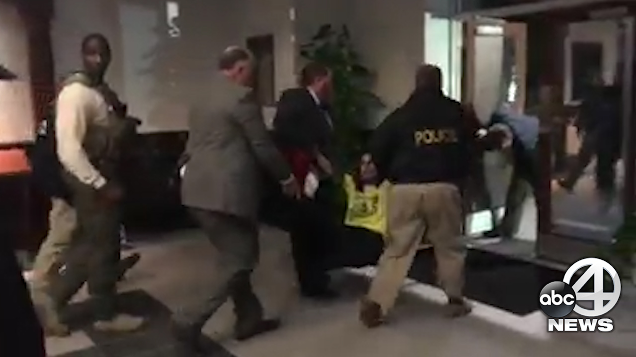 Woman Detained at Bannon Speech (WCIV)
