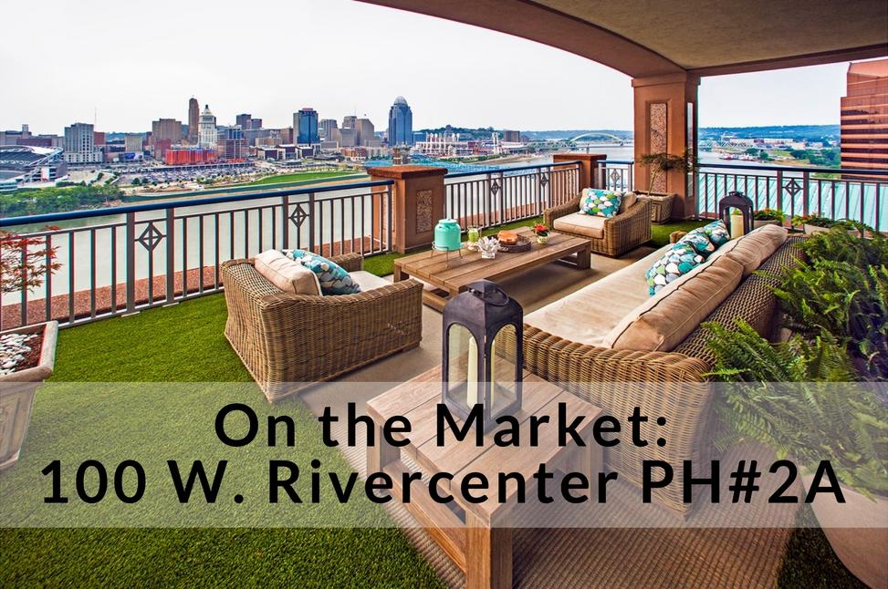 100 W. RiverCenter PH#2A is a 3-bedroom, 3.5-bathroom penthouse condo in Covington, KY. It's currently listed for $2,950,000. For more information, reach out to Lee Robinson (513)-842-2225. / Image: Robin Victor Goetz