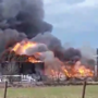 Lightning strike causes oil storage fire in Gonzales County