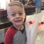 5-year-old boy works to brighten strangers' days in South Bend