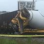 Train hits cement truck in McMechen