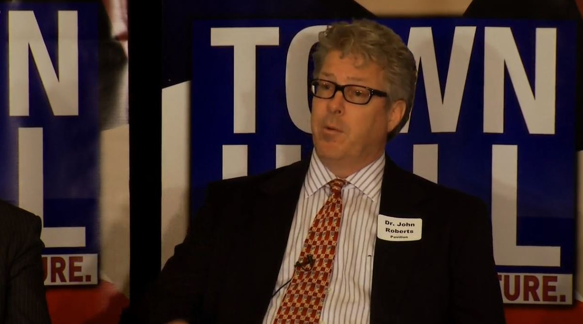 Dr. John Roberts, Pavillon Treatment Center served as a panelist (Photo credit: WLOS)