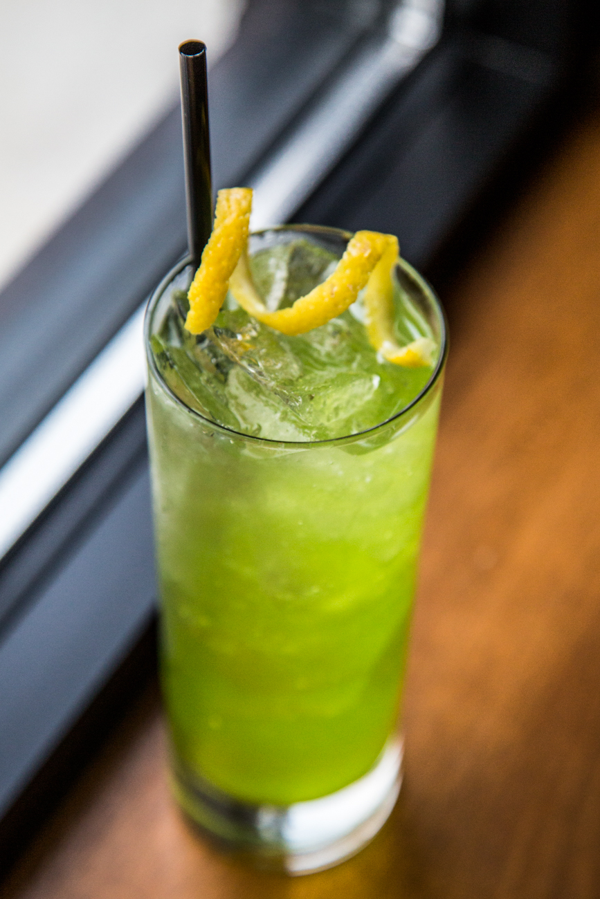 Dokkaebi (Ogre): Midori liqueur, Soju, apple, lemon, and seltzer / Image: Catherine Viox // Published: 1.31.17