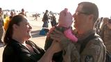 Father meets 3-month-old daughter for first time since deployment