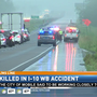 One person killed in I-10 hit and run, State Troopers seek info on driver