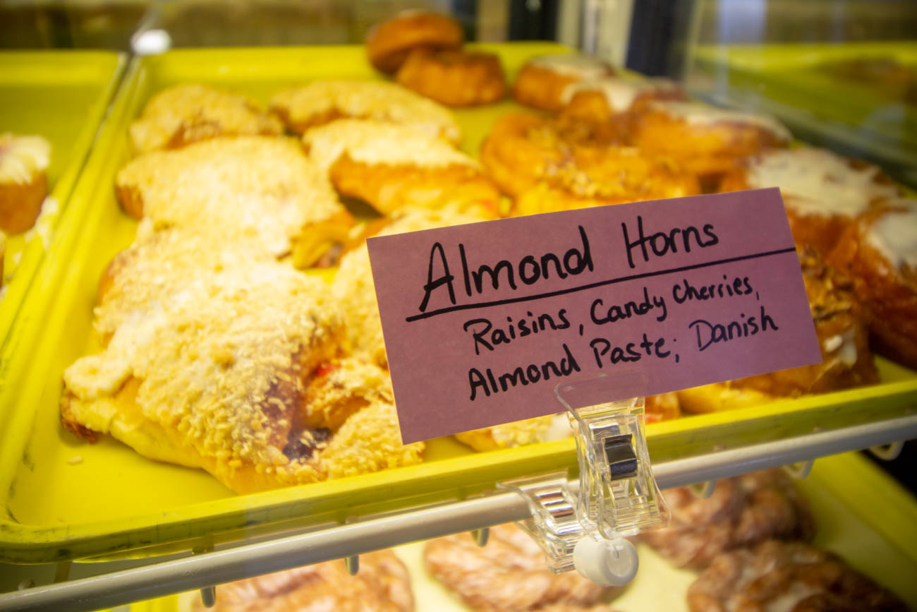 When it comes to the made-from-scratch desserts, customers can always expect a wide selection. Plump donuts, smiley face cookies, cheese pockets, double butters, and coffee cakes are among their specialties, but they pack their shelved cases with other items like cakes, éclairs, cream-filled pastries, and seasonal treats, too. / Image: Katie Robinson, Cincinnati Refined // Published: 3.14.20