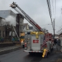 Fire crews battle house fire on Saratoga Street in Cohoes