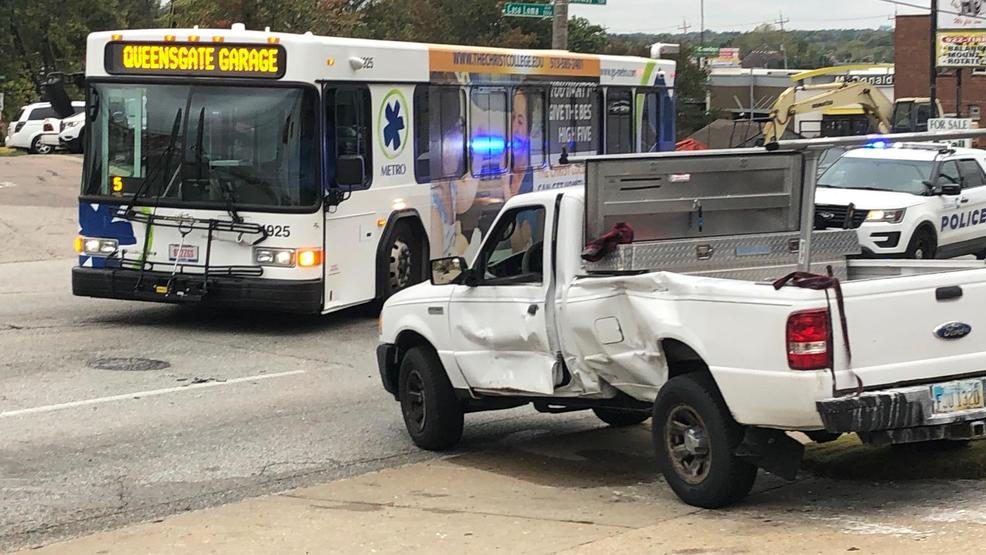 Metro bus, pickup truck collide in West Price Hill