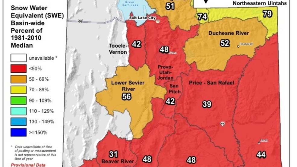 New climate & water report shows much of Utah in red zone ...