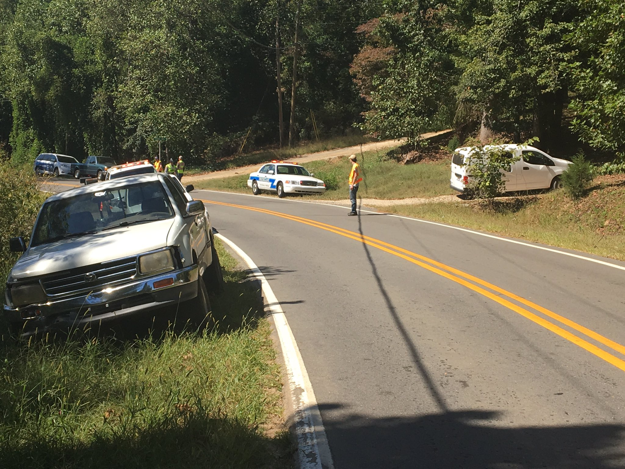 A motorcyclist was injured Monday in McDowell County. According to authorities, the man was driving carelessly up Deacon Drive in Marion. Photo: WLOS staff
