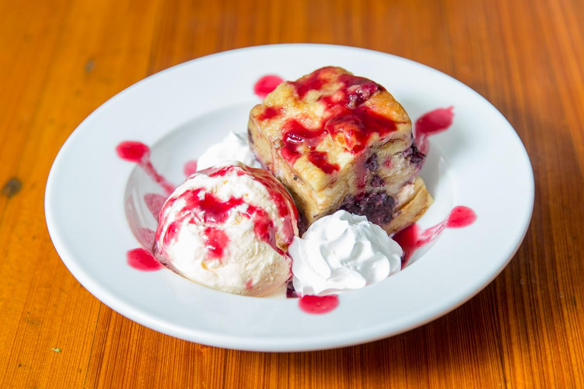 Blackberry cheesecake bread pudding  --  Image: Daniel Smyth Photography