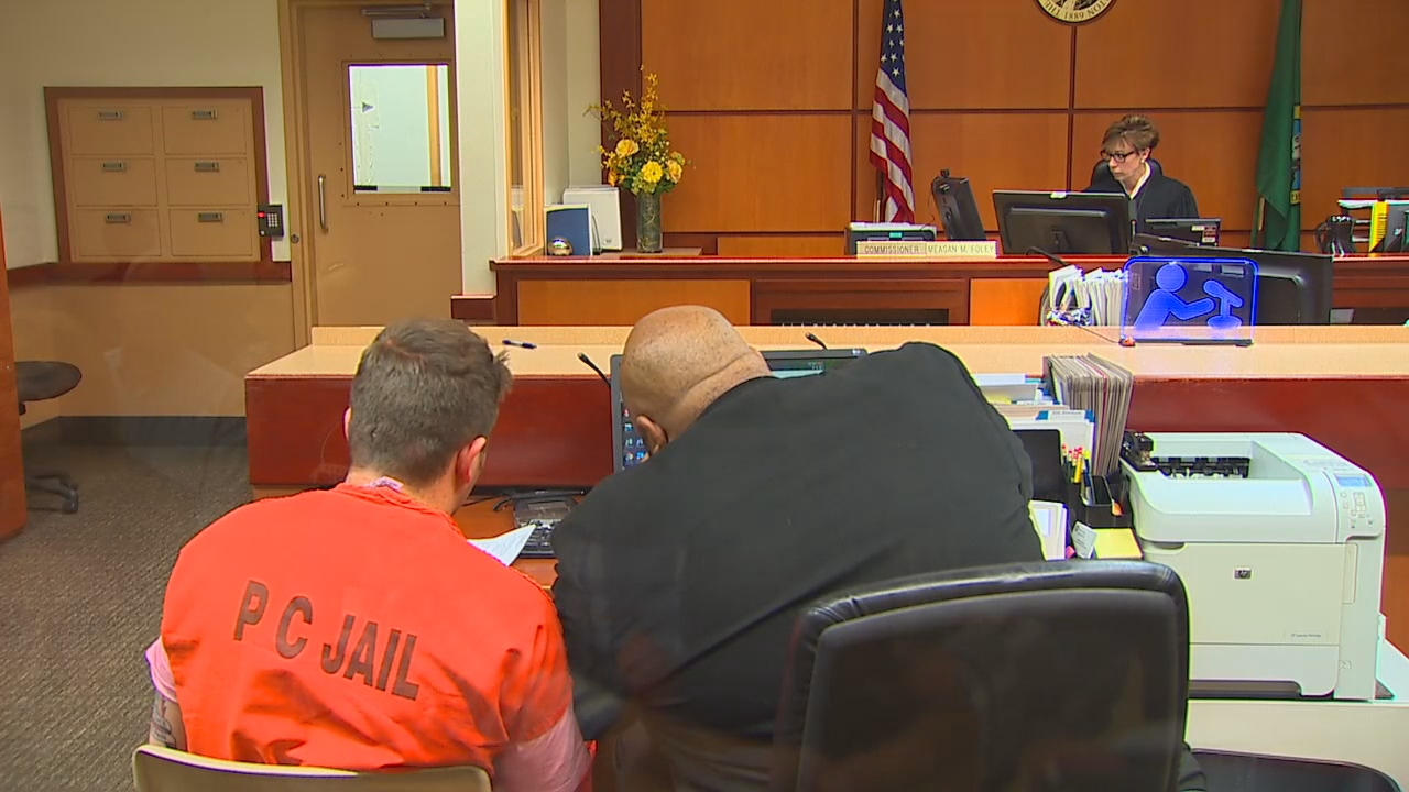 Jefferson Taylor, who is also a soldier, appeared in court on Thursday in connection with the deadly crash. (Photo: KOMO Staff)