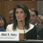 Haley takes hard line on Russia, Syria in Senate confirmation hearing