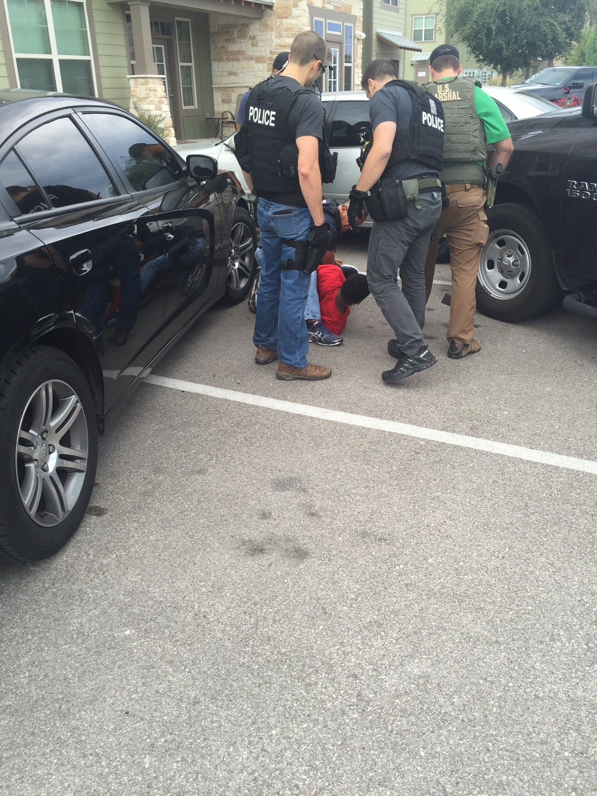Arrest of Terrence Williams. (Photo courtesy: Lone Star Fugitive Task Force)