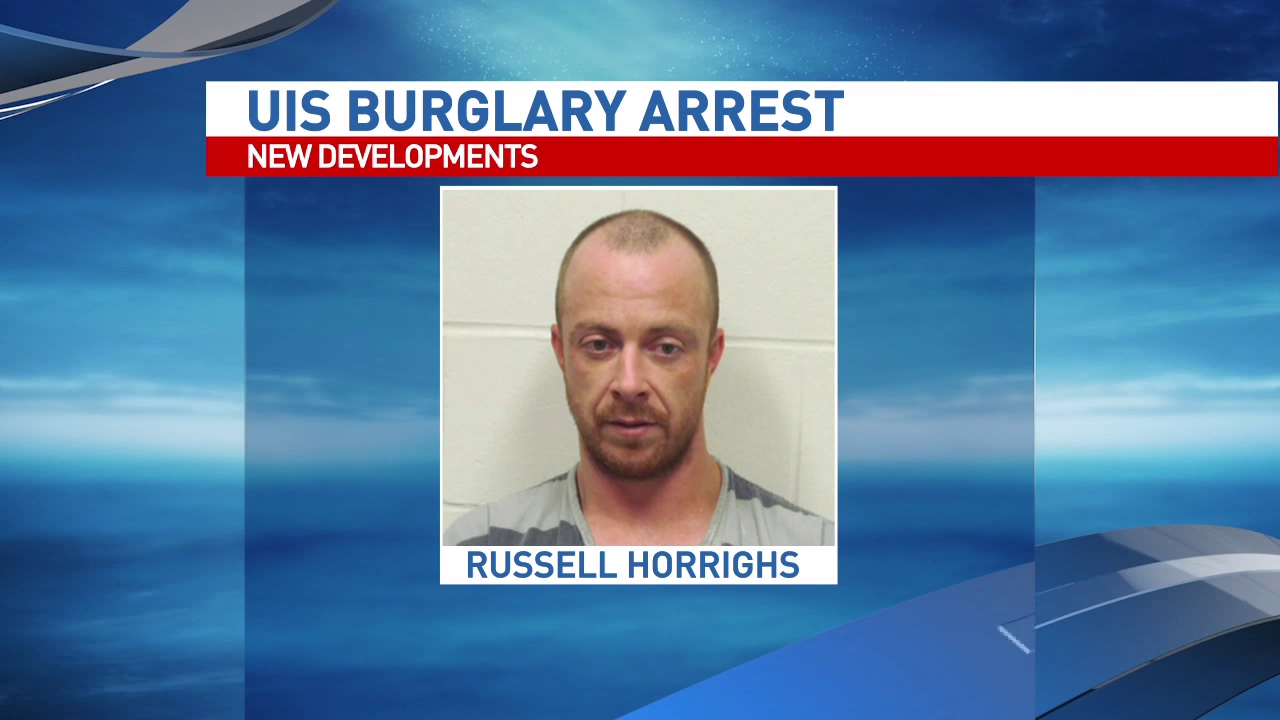 Russell J. Horrighs of Virden is charged with Burglary, Possession of Burglary Tools, and Criminal Damage to State Supported Property.  (WICS)