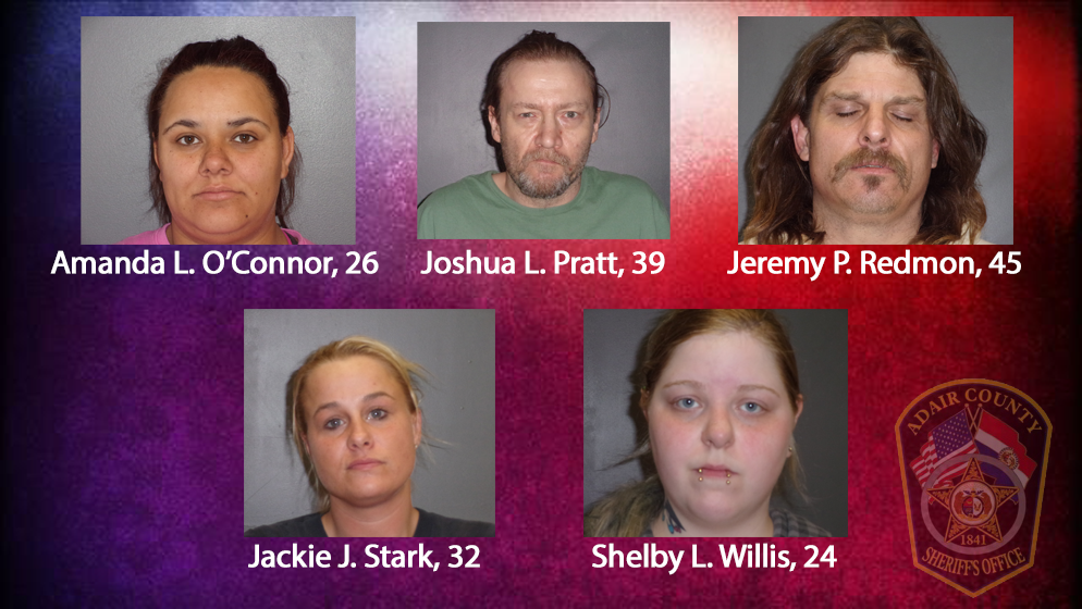 A total of 28 drug suspects were taken into custody during a drug sting in Adair and Sullivan counties early Friday morning. (Adair County Sheriff's Office)