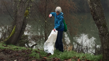 More than 30 people help clean up South Umpqua River on MLK Day