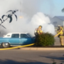 Car erupts in flames outside Kirksville grocery store