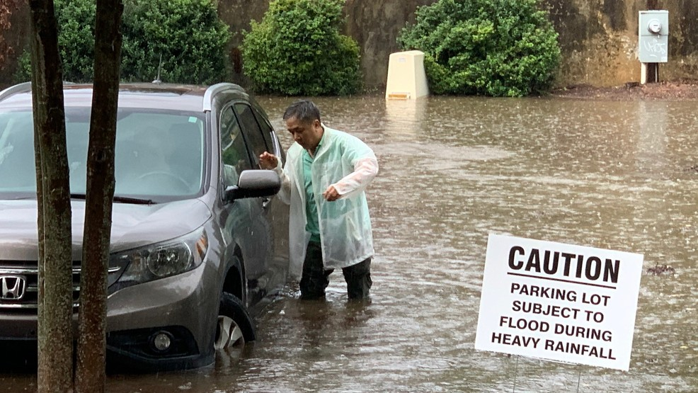 Flooding woes continue in Merrimon parking lot