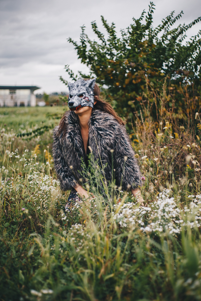 Cathy Daggit as a wolf / Image: Catherine Viox // Published: 10.14.17<p></p>