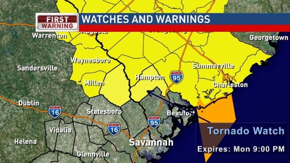 Tornado watches in place for Hampton and Screven counties